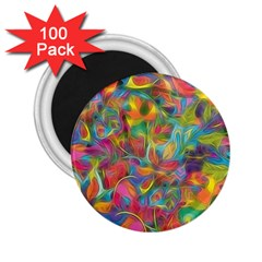 Colorful Autumn 2 25  Button Magnet (100 Pack) by KirstenStar