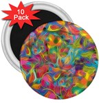 Colorful Autumn 3  Button Magnet (10 pack)