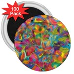 Colorful Autumn 3  Button Magnet (100 pack)