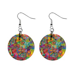 Colorful Autumn Mini Button Earrings
