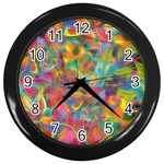Colorful Autumn Wall Clock (Black)