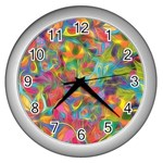 Colorful Autumn Wall Clock (Silver)