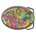 Colorful Autumn Belt Buckle (Oval)