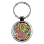 Colorful Autumn Key Chain (Round)