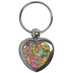 Colorful Autumn Key Chain (Heart)