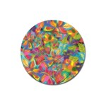Colorful Autumn Magnet 3  (Round)