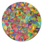 Colorful Autumn Magnet 5  (Round)