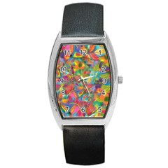 Colorful Autumn Tonneau Leather Watch by KirstenStar
