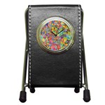 Colorful Autumn Stationery Holder Clock