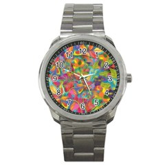 Colorful Autumn Sport Metal Watch by KirstenStar
