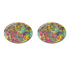 Colorful Autumn Cufflinks (oval) by KirstenStar