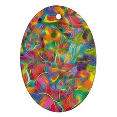 Colorful Autumn Oval Ornament (two Sides) by KirstenStar