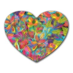 Colorful Autumn Mouse Pad (heart) by KirstenStar