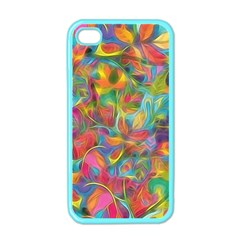 Colorful Autumn Apple Iphone 4 Case (color) by KirstenStar