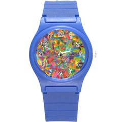 Colorful Autumn Plastic Sport Watch (small) by KirstenStar