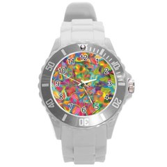 Colorful Autumn Plastic Sport Watch (large) by KirstenStar