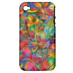 Colorful Autumn Apple Iphone 4/4s Hardshell Case (pc+silicone) by KirstenStar