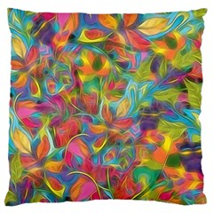 Colorful Autumn Large Flano Cushion Case (two Sides) by KirstenStar