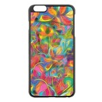 Colorful Autumn Apple iPhone 6 Plus Black Enamel Case Front
