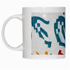 Colorful Paint Stokes White Mug by LalyLauraFLM