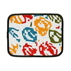 Colorful Paint Stokes Netbook Case (small) by LalyLauraFLM