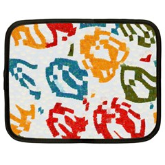 Colorful Paint Stokes Netbook Case (xxl) by LalyLauraFLM