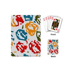 Colorful Paint Stokes Playing Cards (mini) by LalyLauraFLM