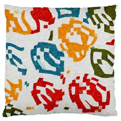 Colorful Paint Stokes Large Cushion Case (two Sides) by LalyLauraFLM