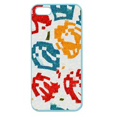 Colorful Paint Stokes Apple Seamless Iphone 5 Case (color) by LalyLauraFLM