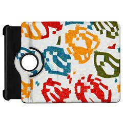 Colorful Paint Stokes Kindle Fire Hd Flip 360 Case by LalyLauraFLM