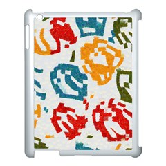 Colorful Paint Stokes Apple Ipad 3/4 Case (white) by LalyLauraFLM