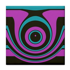 Distorted Concentric Circles Face Towel by LalyLauraFLM