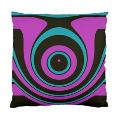 Distorted Concentric Circles Standard Cushion Case (two Sides) by LalyLauraFLM