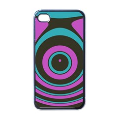 Distorted Concentric Circles Apple Iphone 4 Case (black) by LalyLauraFLM