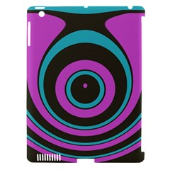 Distorted Concentric Circles Apple Ipad 3/4 Hardshell Case (compatible With Smart Cover) by LalyLauraFLM
