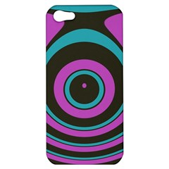 Distorted Concentric Circles Apple Iphone 5 Hardshell Case by LalyLauraFLM