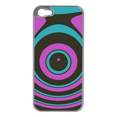 Distorted Concentric Circles Apple Iphone 5 Case (silver) by LalyLauraFLM