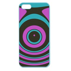 Distorted Concentric Circles Apple Seamless Iphone 5 Case (color) by LalyLauraFLM