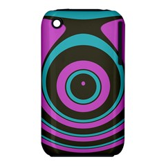 Distorted Concentric Circles Apple Iphone 3g/3gs Hardshell Case (pc+silicone) by LalyLauraFLM