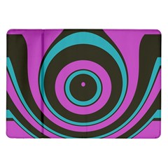 Distorted Concentric Circles Samsung Galaxy Tab 10 1  P7500 Flip Case by LalyLauraFLM