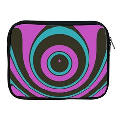 Distorted Concentric Circles Apple Ipad 2/3/4 Zipper Case by LalyLauraFLM