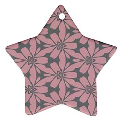 Pink Flowers Pattern Ornament (star) by LalyLauraFLM