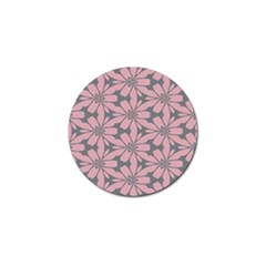 Pink Flowers Pattern Golf Ball Marker by LalyLauraFLM