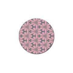 Pink Flowers Pattern Golf Ball Marker (10 Pack) by LalyLauraFLM