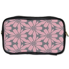 Pink Flowers Pattern Toiletries Bag (one Side) by LalyLauraFLM