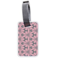 Pink Flowers Pattern Luggage Tag (two Sides) by LalyLauraFLM