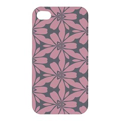 Pink Flowers Pattern Apple Iphone 4/4s Hardshell Case by LalyLauraFLM