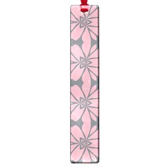 Pink Flowers Pattern Large Book Mark by LalyLauraFLM
