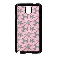 Pink Flowers Pattern Samsung Galaxy Note 3 Neo Hardshell Case by LalyLauraFLM