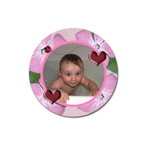 Ladybug Hearts Round Magnet 3  By Chere s Creations   Magnet 3  (round)   H6bt8ihlmssd   Www Artscow Com Front